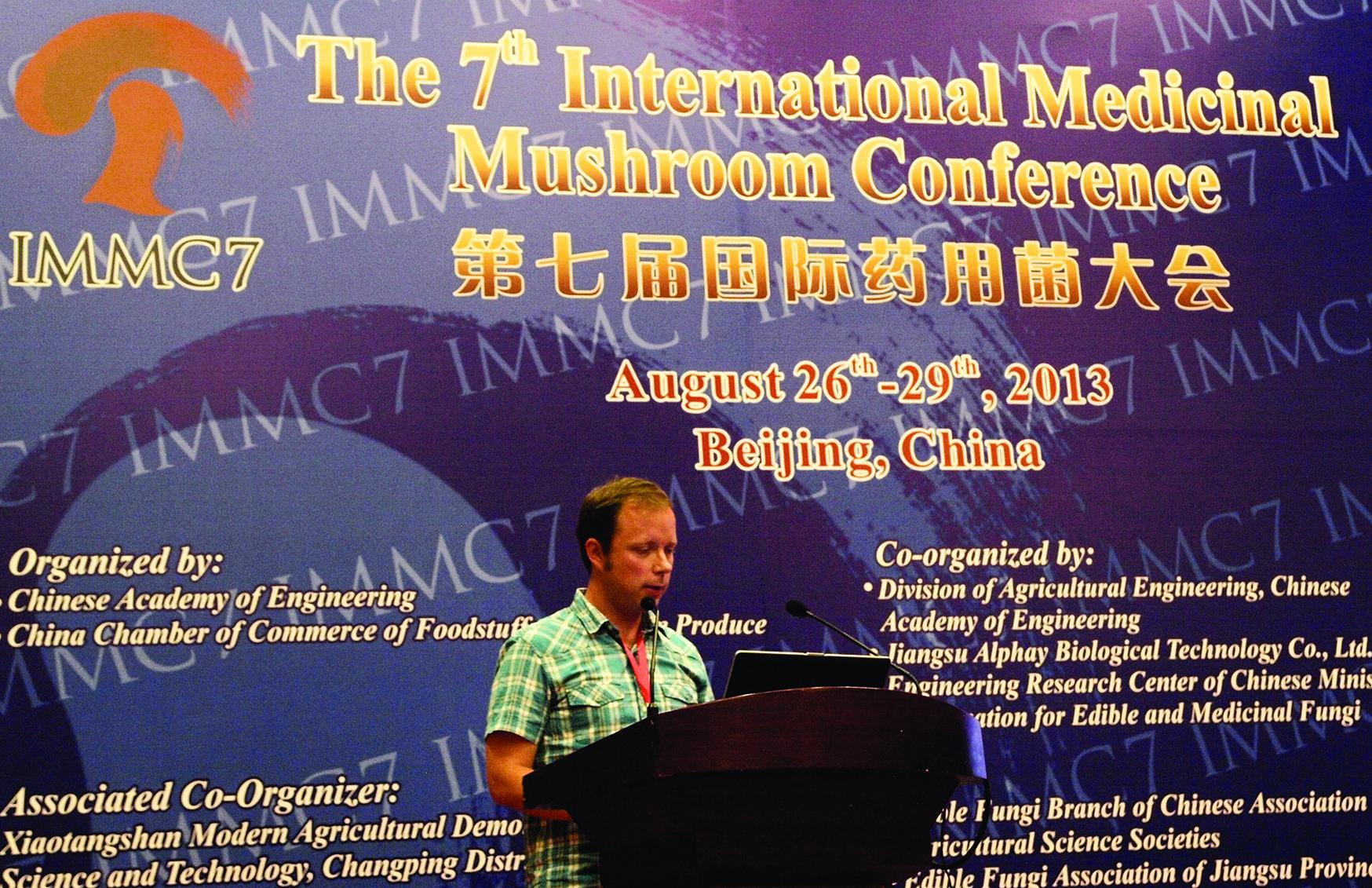 Boris Jakopović, član istraživačkog tima, prezentira rezultate u Pekingu