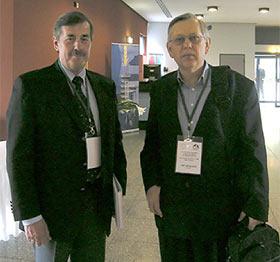 Ivan Jakopovic in Jan Lelley, znanstvena konferenca o zdravilnih gobah v Bonnu