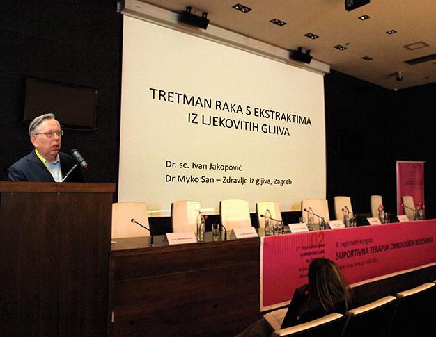 Dr. Jakopović izlaže na 2. regionalnom onkološkom kongresu u Budvi o tretmanu raka ekstraktima ljekovitih gljiva