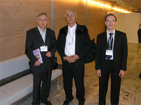 Ivan Jakopovich, Solomon P. Wasser and Neven Jakopovich at the medicinal mushroom conference