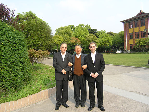 medicinal mushroom cancer drug PSP inventor Qing-Yao Yang with Dr. Ivan Jakopovich and Neven Jakopovich