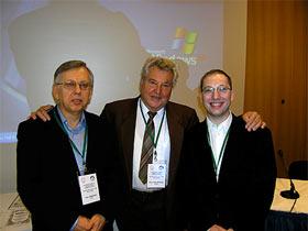Dr. Ivan Jakopović, Prof. Hans Molitoris i Neven Jakopović, konferenca o zdravilnih gobah