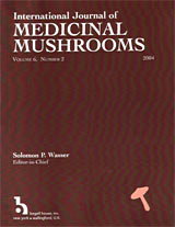 International Journal of Medicinal Mushrooms cover