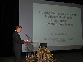 Medicinal Mushroom Conference Mushrooms against Cancer presentation by Dr. Ivan Jakopovich