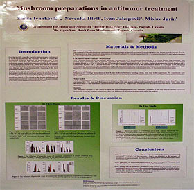 medicinal mushrooms and cancer - poster Myko San and Rudjer Boskovic Institute